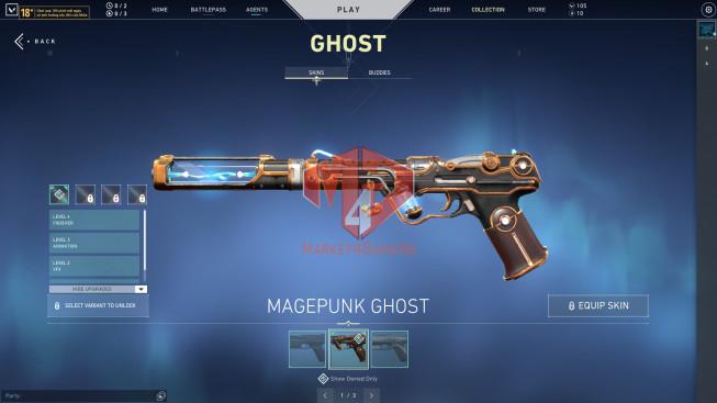 Unrank – 10 Agent – 26 Skins – Bundle Magepunk – Glitch Phantom