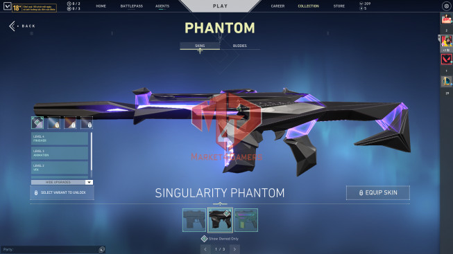Asian 27 Skins – Bundle Forsaken – Sheriff + Phantom Singularity – Vandal Prime – 209 VP