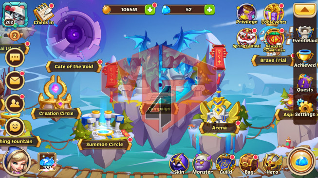 [SOLD]Android – lv 202 – vip 2 – s45 – 4 Heroes E5 – 4M5 POWER – 20 SKINS
