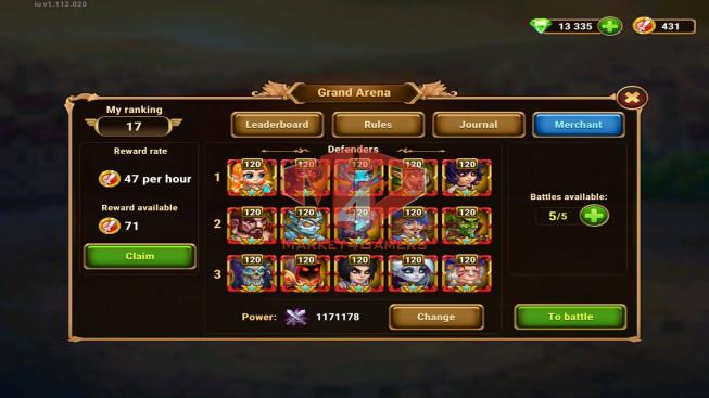 iOS 231WLD – Vip 15 – GA 1M2 – Arena 435k – Total Power 2M1