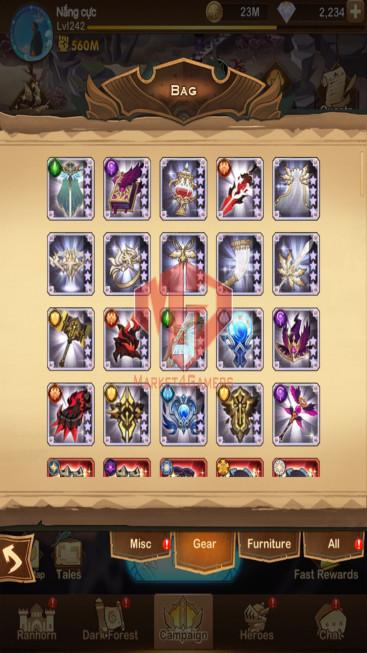 AFK 560M – Vip 10 — S408 — 50 Heroes Ascended – 8 Dimensional Heroes