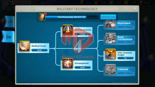 Account 61M Power ** Maxed 4 Commanders ** Farm Account