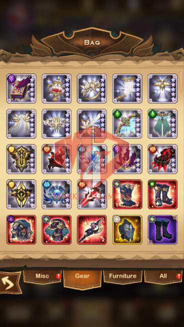 AFK 814M – Vip 10 — S164 — 56 Heroes Ascended – 8 Dimensional Heroes