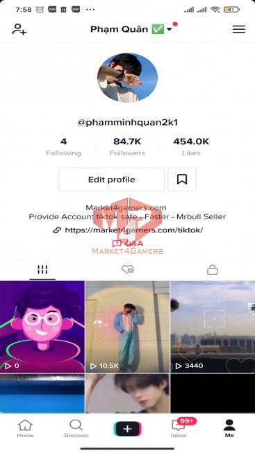 ✅ Account Verified 84.7k Followers – 454k Likes – Entertainment Channel