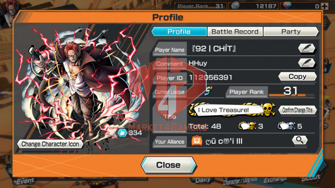 OPBR45 Android Max 2 EX Roger – Oden – shank lv60