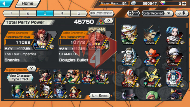 OPBR47 Android Max 2 EX Shanks – Teech + Max sabo