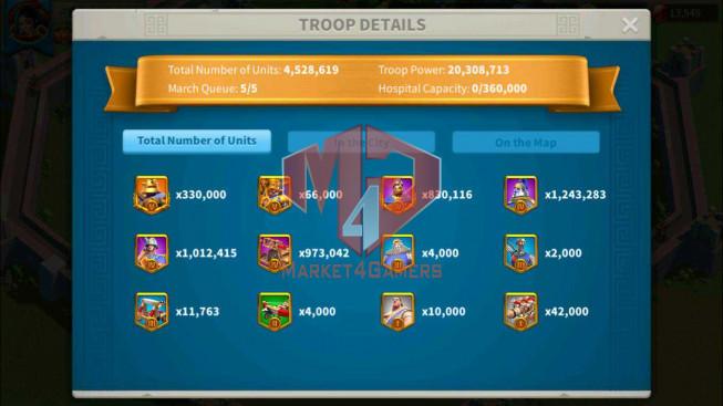 SOLD Account 66M Power ** Maxed 3 Commanders ** 7M2 Credits ** Farm Account