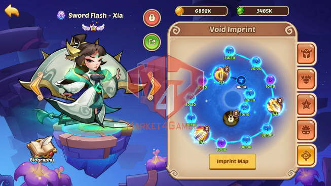 Android – Lv192- S1 – VIP 3 – 2 Void Heroes XIA,halora – 8 Heroes E5 + 1E4+1E3- 17 Skins – 16M Power