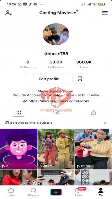 ✅ Account Verified 52.8k Followers – 358.8k Likes– Entertainment Channel