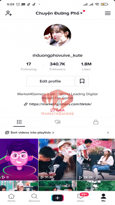 ✅ Account Verified 341.0k Followers – 1.8M Likes – Entertainment Channel