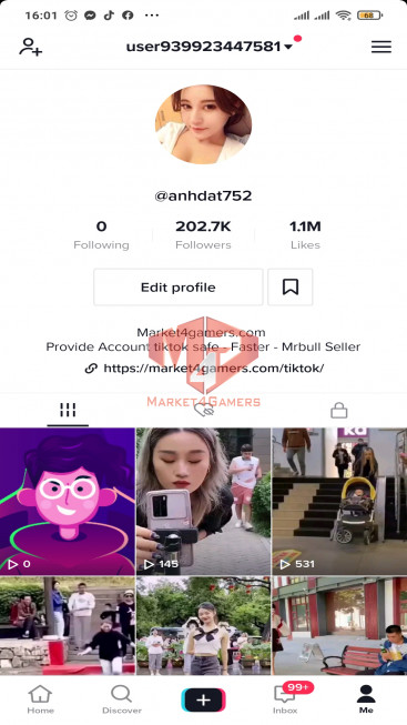✅ Account Verified 202.7k Followers – 1.1M Likes – Entertainment Channel – Registered Creator Fund