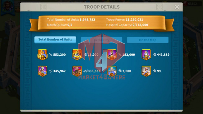 Account 54M T5 ** Maxed 3 Commanders ** Ready Migrate ** Farm Account