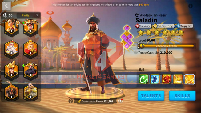 Account 62M T5 ** Maxed 6 Commanders Cavalry ** Ready Migrtae ** Second Account 24M