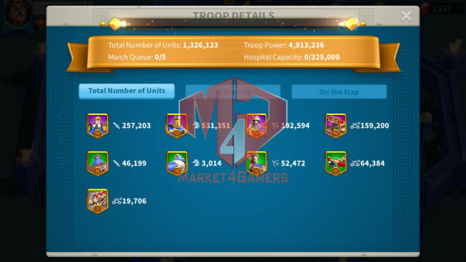 Account 33M Power ** Maxed 3 Commanders ** Ready Migrate ** 3.9M Credits