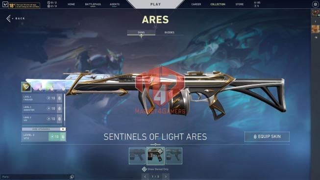 Full Agents – 23 Skins – Sentinels of Light Collection – Oni Phantom – Blastx Knife – Full BP S6