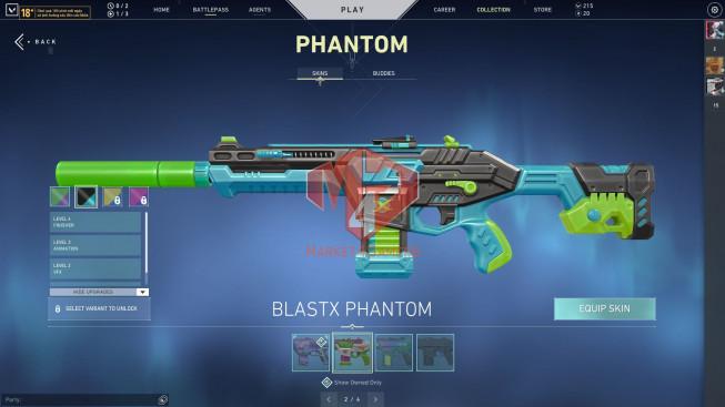 Full Agents – 33 Skins – Glitchpop Classic, Phantom, Vandal, Knife Melee – Blastx Phantom – Unlock BP S6