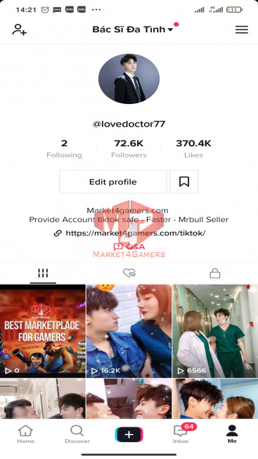 ✅ Account Verified 72.6k Followers – 370.4k Likes – Entertainment Channel