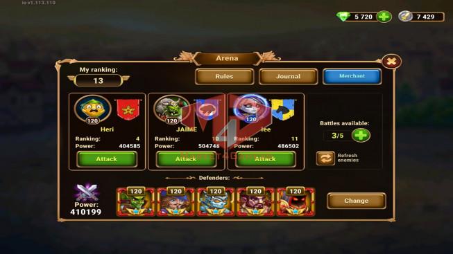 iOS 231WLD – Vip 14 – GA 1M – Arena 410k – Total Power 1M9