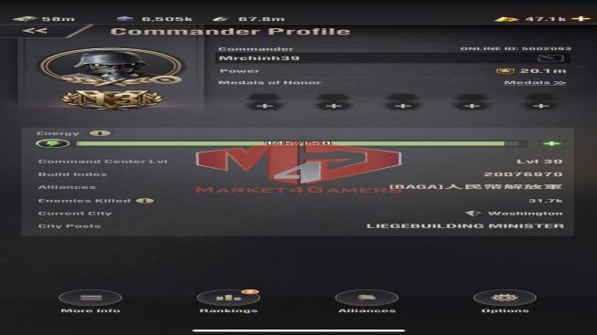 WAPA39 Lv 30 – 20M1 – Vip 13 – s11 – Max Percy , Shevchenko 5333 , Machine 4333 , Spanner 5122 – 3 Untis X – 1 Untis IX – 1 Untis VIII