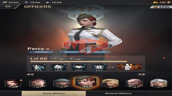 WAPA48 Lv 31 – 23m1 – Vip 13 – S17 – Max Percy – Mary 3322 , Shenvchenko 4444- 2 Units X, 2 Units IX , 1 Untis VII