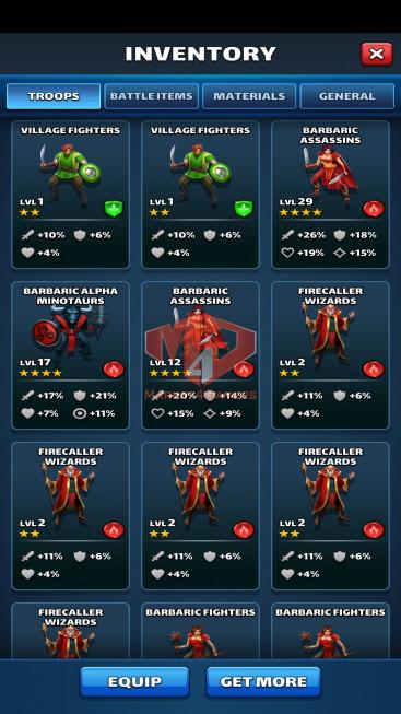 iOS Lv79 – Team Power 4729 – 32 Heroes Lv80 – Troop Lv13 – Lv29