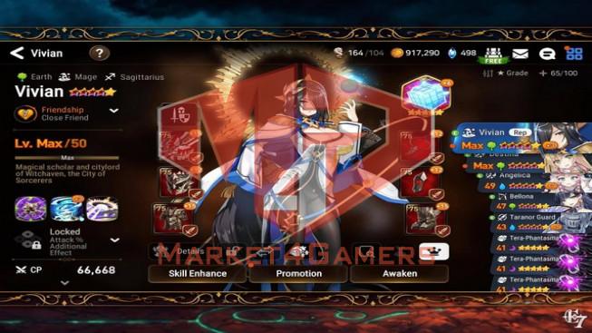 Vivian ( Art Time ) x Limit Landy x Sinfu Angel… Rank: 35 Skystone: 498 Gold: 1M – 20