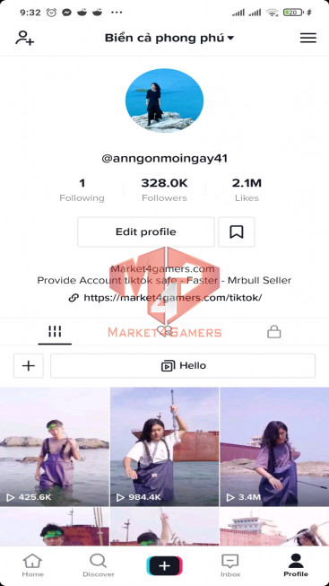 ✅ Account Verified 318k Followers – 1,8M Likes – Entertainment Channel