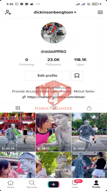 ✅ Account Verified 22.8k Followers – 116.2k Likes – Funny Channel – Registered Creator Fund