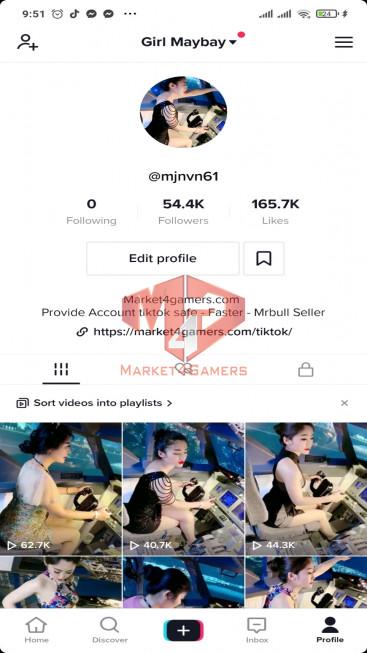 ✅ Account Verified 49.1k Followers – 149.1k Likes – Beautiful Girl Channel – Registered Creator Fund