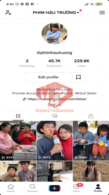 ✅ Account Verified 45,7k Followers – 229,7k Likes – Movie Channel – Registered Creator Fund