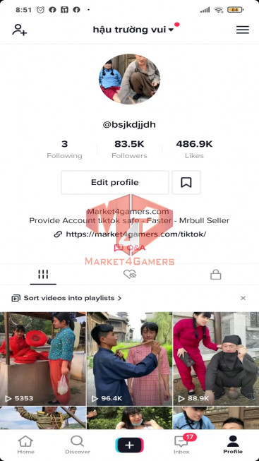 ✅ Account Verified 83,5k Followers – 486,8k Likes – Movie Channel – Registered Creator Fund