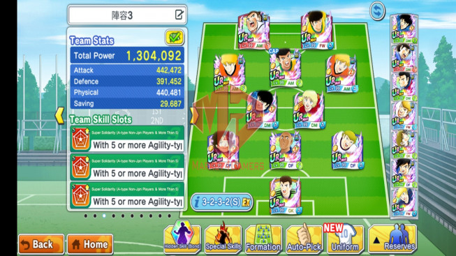 758d – bond 46.5% – tsubasa – netherland – many good players