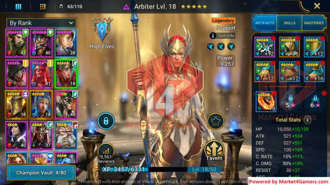 All Devices Account 662K Power ** Lvl 63 ** 9 Heros Legend