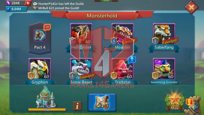 691M ( 13MS Kingdom 488, 2b Wood , 2,39B Gold, 275k gem )