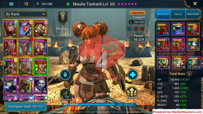 All Devices Account 1M6 Power ** Lvl 71 ** 21 Heros Legend