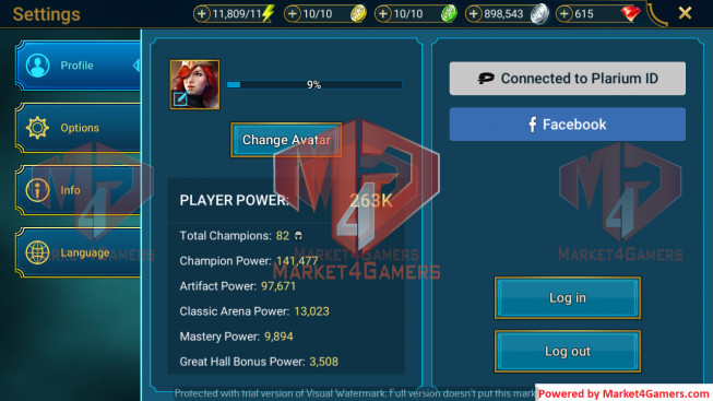 All Devices Account 263K Power ** Lvl 44 ** 3 Heros Legend