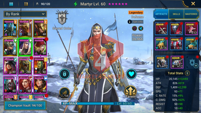 All Devices Account 852K Power ** Lvl 64 ** 7 Heros Legend