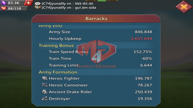 349M Kd:444  Research 250M  Troops:16M