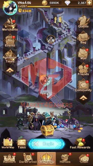 AFK 836M – Vip 10 — S47 — 58Heroes Ascended – 10 Dimensional Heroes