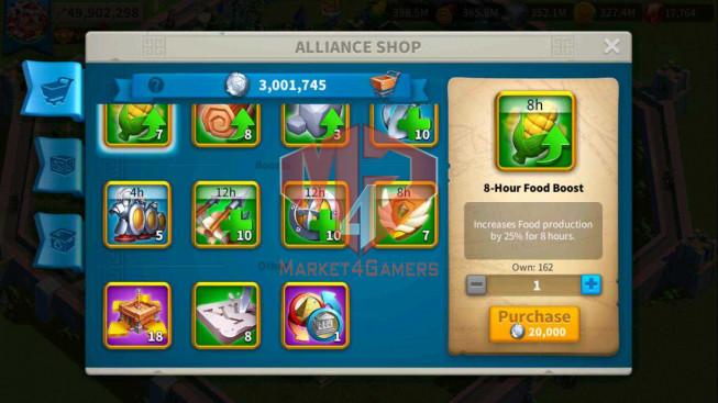 SOLD Account 49M Power ** Maxed 4 Commanders ** Farm Account ** 3M Credits
