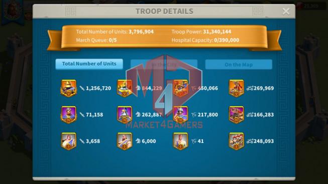 Whale Account 85M ** Vip 16 ** Maxed 16 Commanders ** Second Acc 31M ** 2 Farm Accounts