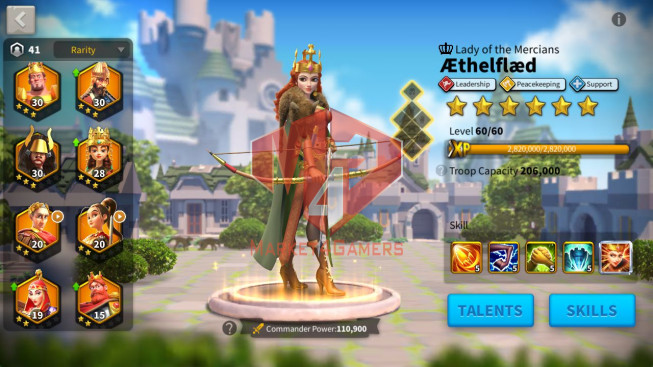 Account 35M Power ** Maxed Charles, Aethef ** Castle 25 ** 4M Credits