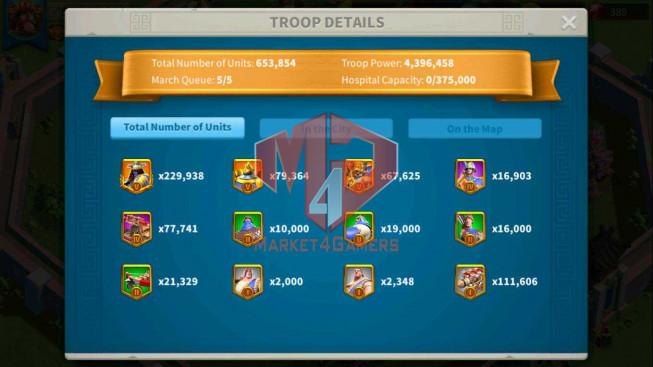 SOLD Account 53M Power ** Maxed 4 Commanders ** Farm Account 20M
