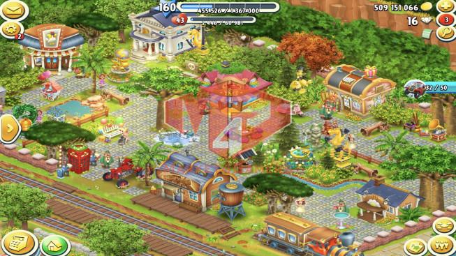 HD253[SuperCell ID]–Account lv160 — Barn Storage 7100– Silo Storage 6050 — Tackle 235 — Train Lv19 — 509M coins