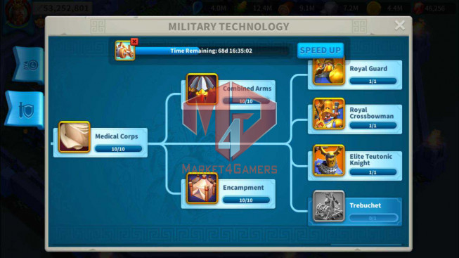 Account 53M Power ** Maxed 8 Commanders Cavalry ** 6M7 Credits