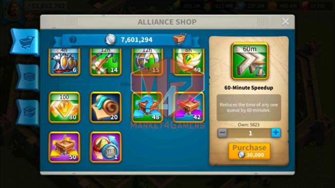 Account 53M Power ** Maxed 5 Commanders ** 83K Gems ** Farm Account