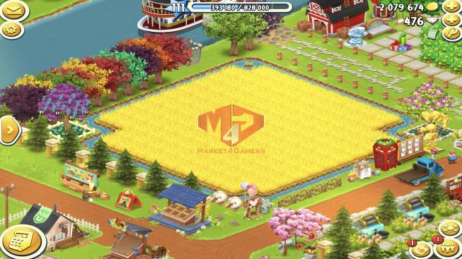 [Android + IOS]–Account Lv111 — Barn Storage 7000 — Silo Storage 5000 — 476 Diamond — Tackle 50 — Train Lv4