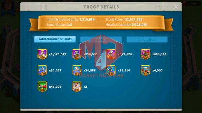 SOLD Account 51M Power ** Maxed 3 Commanders ** 10M6 Credits ** Farm Account