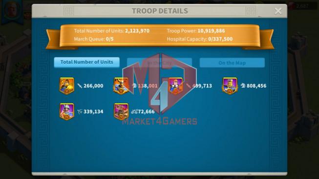 Account 55M T5 ** Vip 14 ** Maxed 4 Commanders ** Second Acc 18M ** 5M Credits