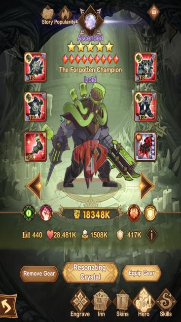 AFK 906M – Vip 10 — S22 — 58 Heroes Ascended – 9 Dimensional Heroes